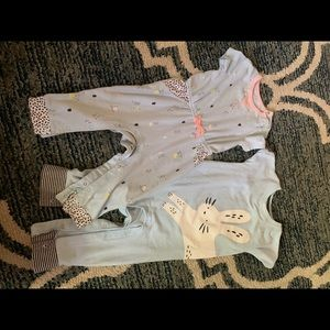 Short sleeve onesies set for toddler